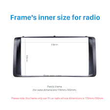 toyota product line double din 2003 2006 toyota corolla car radio fascia stereo dash