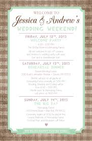 wedding itinerary country chic wedding weekend itinerary by paper lace www