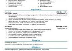 Receptionist Resume Examples by Excellent Ideas Receptionist Resume Examples 8 Best Example Cv