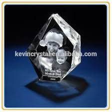 Crystal Souvenirs Business Gifts 3d Laser Engraving Crystal Glass Keychain Souvenirs