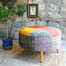 Colored Ottoman Extraordinary Bright Colored Ottomans Large Patchwork Stool
