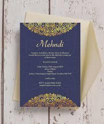 mehndi invitation navy blue gold mehndi baraat card from 1 00 each