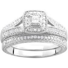 diamond bridal sets 1 3 carat t w diamond bridal set in argentium silver walmart