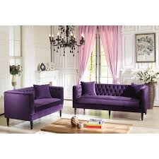 furniture comfortable tufted loveseat with decorative cushions