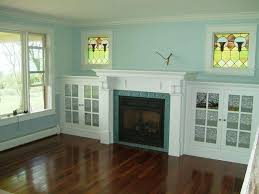 custom made eastlake fireplace and side cabinets