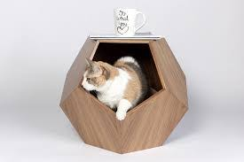 plush pad wood cat hammock large dog furniture pet bed cat house