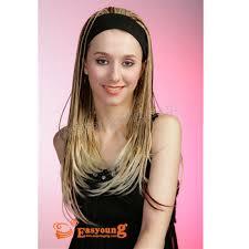 headband wigs hotsell 3 4 wigs for african black women blonde headband briaded