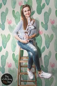 cactus pastel watercolor wallpaper pale nursery wall zoom