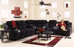 microfiber home theater seating klaussner grand reclining sectional sofa with console wayside
