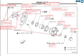 nissan pathfinder wheel bearing ordered wrong parts y33 front struts nissan forum nissan forums