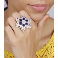flower design rings images Buy much more flower design finger ring cz stone silver plated jpg