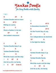 doodle 4 blank sheet yankee doodle an illustrated song sing books with emily the