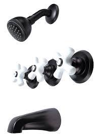 3 Handle Bathtub Faucet 3 Handle Tub U0026 Shower Faucet Oil Rubbed Bronze 34580b