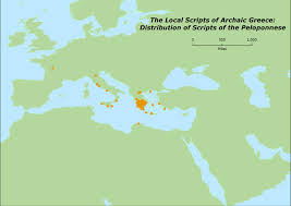 Writing Maps Epigraphic Sources For Early Greek Writing