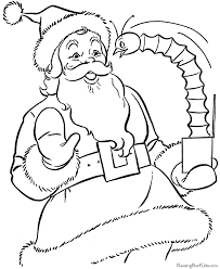 free printable santa coloring pages 007