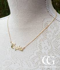real gold name necklace solid 9ct yellow gold personalised name necklace chains of gold