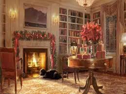 christmas fireplace painting cheminee website