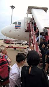 yes thaiairasia boarding via movable stairs love it picture