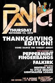 we are open thanksgiving karaoke electric circus has panic