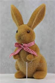 easter bunny new handmade ornament artificial flocked bunny