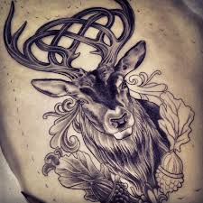 celtic stag tattoo celtic stag tattoo design by adam sky rose