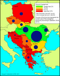 Eastern Europe Political Map by Christianity Disciple All Nations