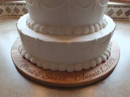 personalized wedding or anniversary cake plate customized with