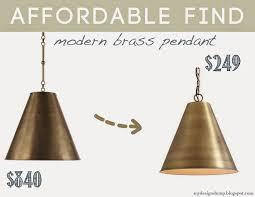 design dump affordable find modern brass pendant