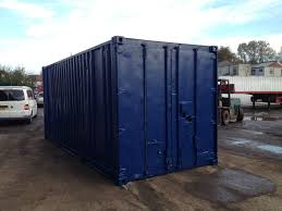20ft x 8ft blue used shipping container u2014 www