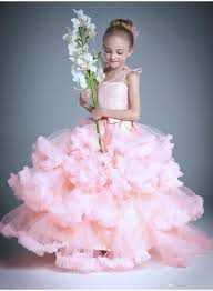 cloud little flower girls dresses for weddings baby party frocks