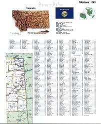 Map Of Montana Cities And Towns by Topographic Map Of Montanafree Maps Of North America