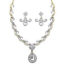 diamond sets images austrian diamond necklace set by dg jewels cns 9283 necklace