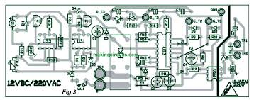 layout pcb inverter sg3525 inverter circuit with output voltage correction
