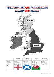 Blank Map Of Scotland Worksheet by 151 Free Esl United Kingdom Worksheets
