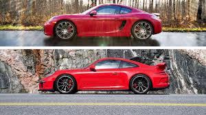 red porsche 911 2015 porsche 911 gt3 vs 2015 porsche cayman gts
