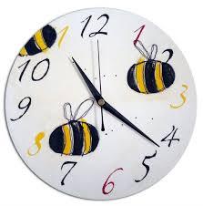 Bumble Bee Nursery Decor Bumble Bee Clock Children S Boys Wall Clock Nursery