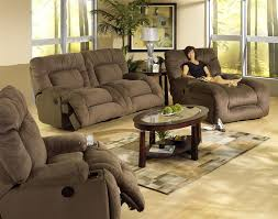 Power Reclining Sofa Set 2 Power Reclining Sofa Set In Coffee Microfiber Fabric By