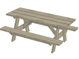 Free Woodworking Plans For Picnic Table by Wooden Idea