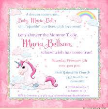 s shower invitations unicorn baby shower invitation dreamy rainbows magical clouds