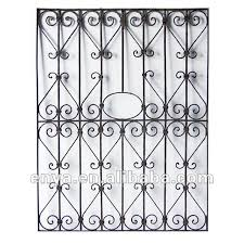 wrought iron window grille ornamental grill antique reproduction