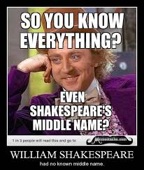 Shakespeare Meme - middle name funny shakespeare memes pics bajiroo com