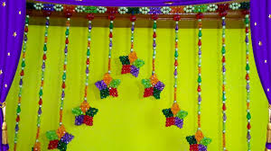 How To Make Wall Decoration At Home How To Make Door Hanging Toran At Home Door Wall Hanging