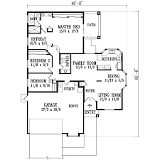 santa fe style house plans plan 41 443 1600 square foot house