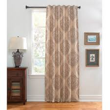 Brown Linen Curtains Damask Curtains Shop For Damask Curtains On Polyvore