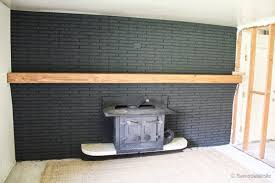 Make A Fireplace Mantel by Remodelaholic Easy Wood Mantel For Brick Fireplace