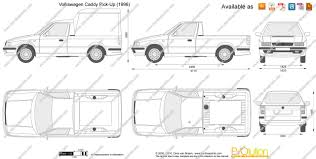 volkswagen caddy pickup the blueprints com vector drawing volkswagen caddy pick up