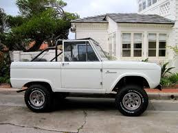 white bronco car sandy mellow every september