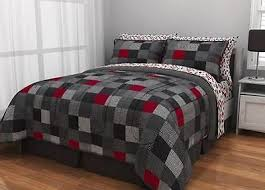 Minecraft Twin Comforter Reversible Bedding Set Minecraft Latitude Geo Blocks Twin 5 Pcs