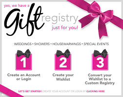 s bridal registry our canby or discounted furniture store offers a useful gift registry