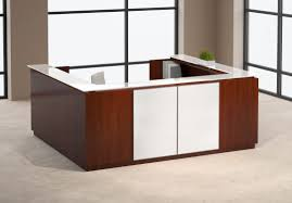 Medical Office Reception Furniture Semicircular Reception Desk Glass Laminate Envision By Aaron